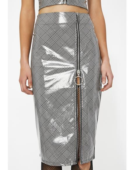 Crushing Hard Vinyl Pencil Skirt
