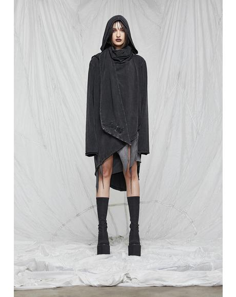 Synth Unisex Hooded Wrap Shirt