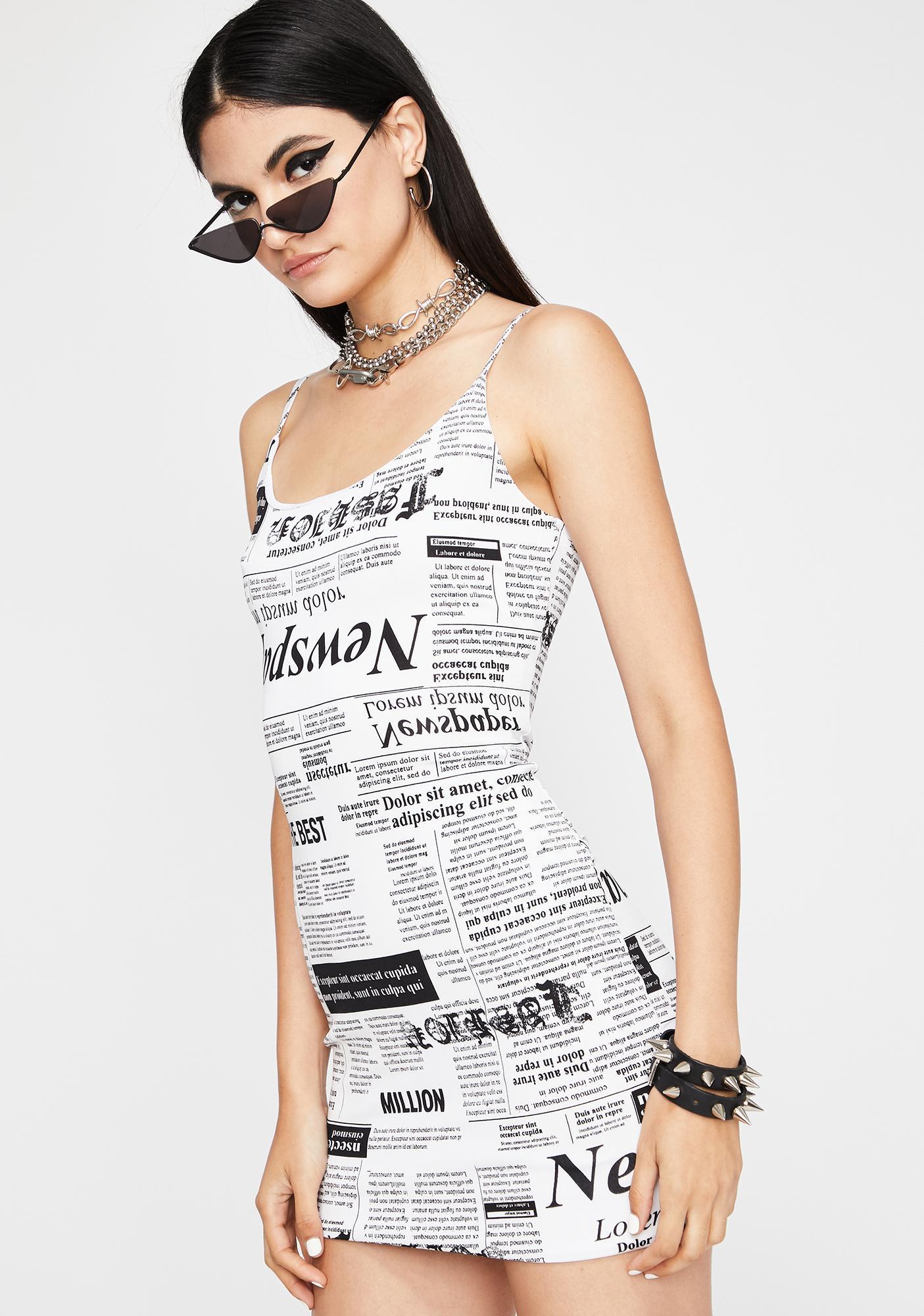 Read All About It Mini Dress