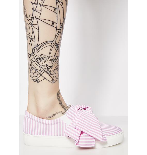 Bow Tie Slip On Sneakers