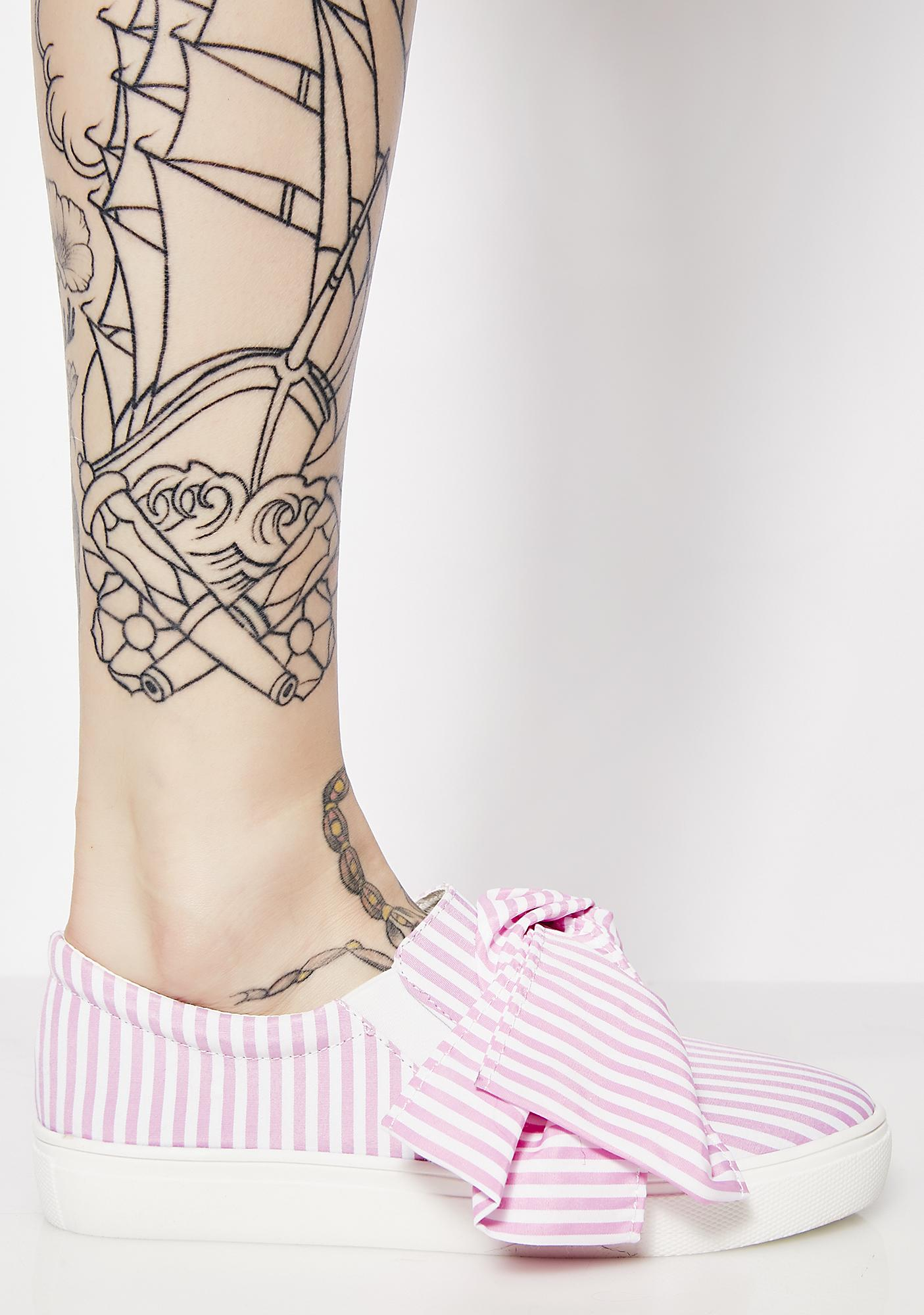Bow Tie Slip On Sneakers