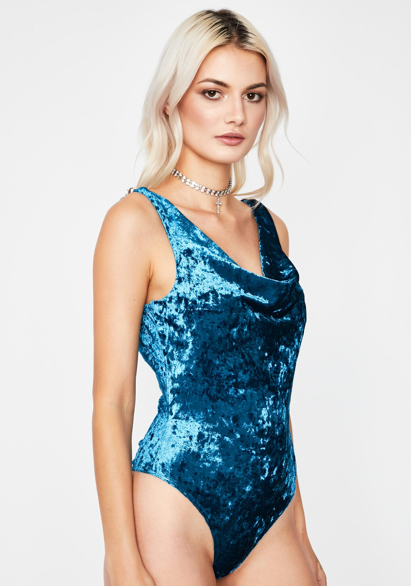 Berry Flirty Fantasy Velvet Bodysuit