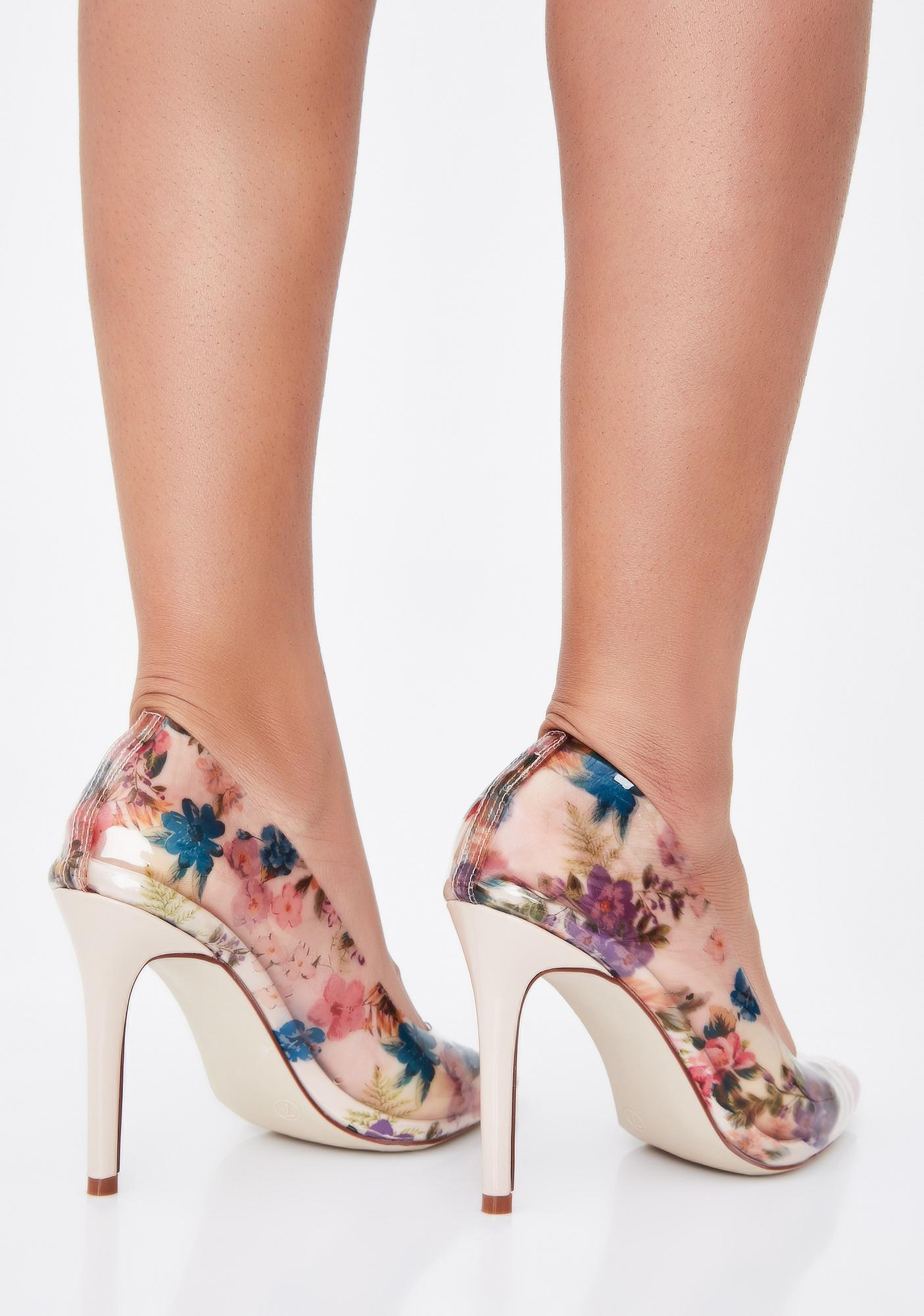 Garden Glam Clear Pumps