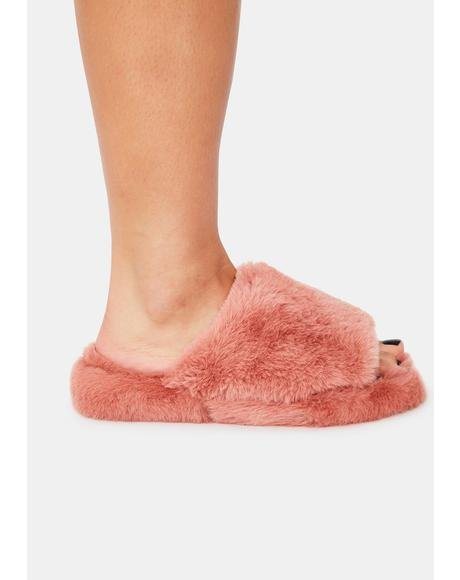 Comfort Kisses Faux Fur Slippers