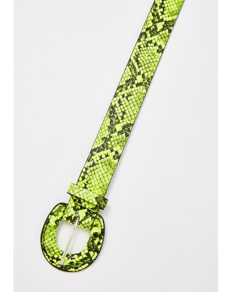 Atomic Venom Snakeskin Belt