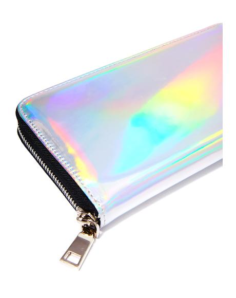 Hollyweird Hologram Zip Wallet