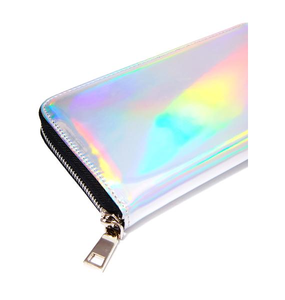 Current Mood Hollyweird Hologram Zip Wallet