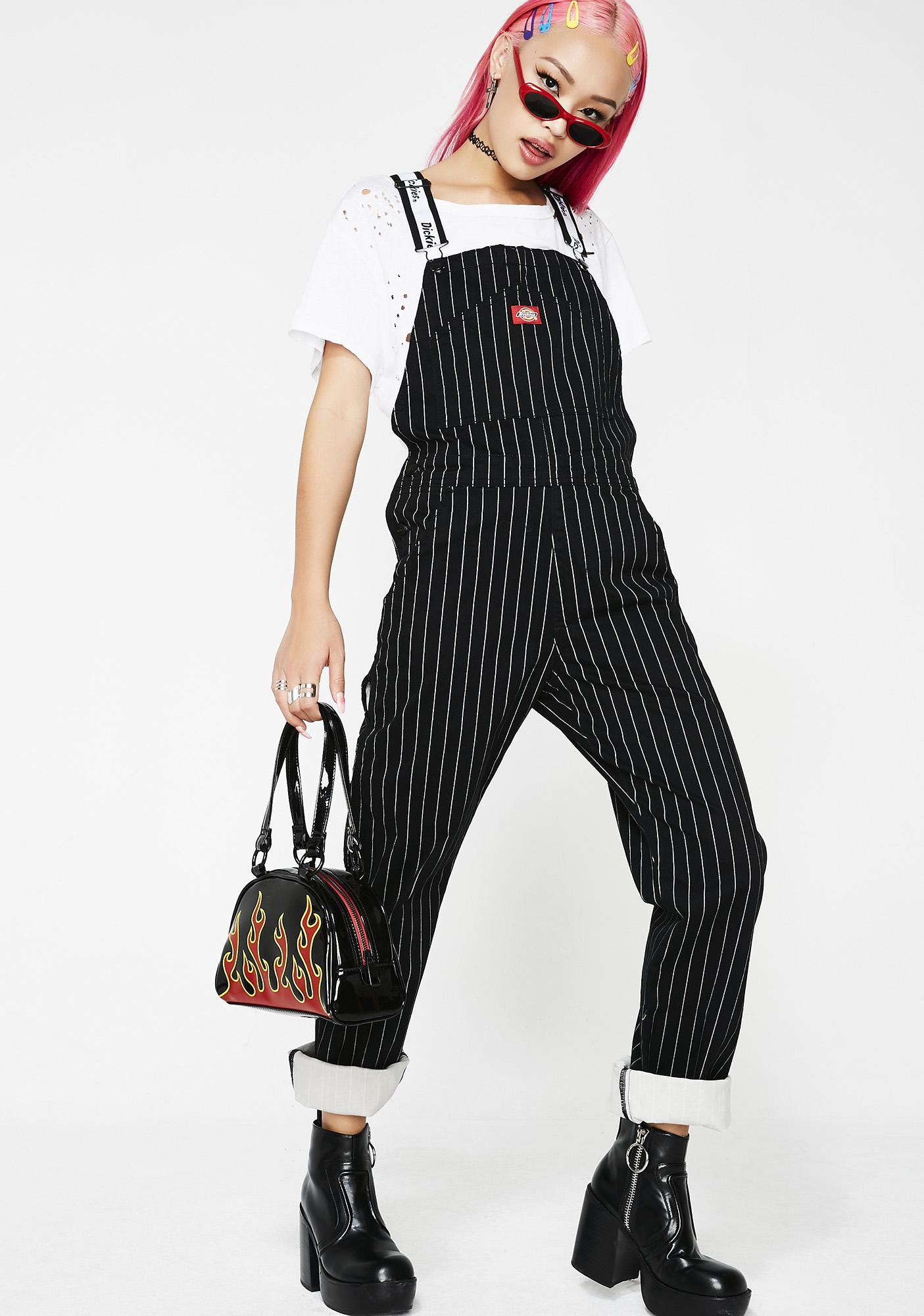 100% high quality details for quality design Pinstripe Overalls