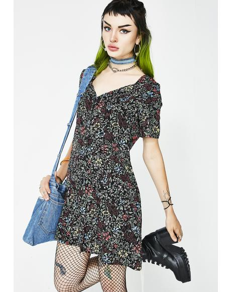 Gloom N Bloom Floral Dress