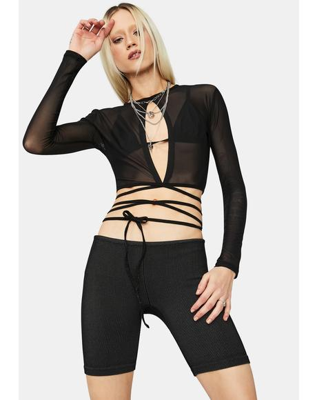 Invade Your Space Mesh Crop Top