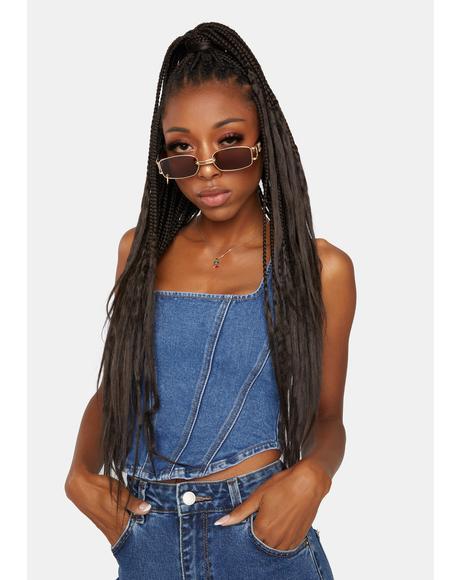 Cocoa No Rulebook Rectangle Sunglasses