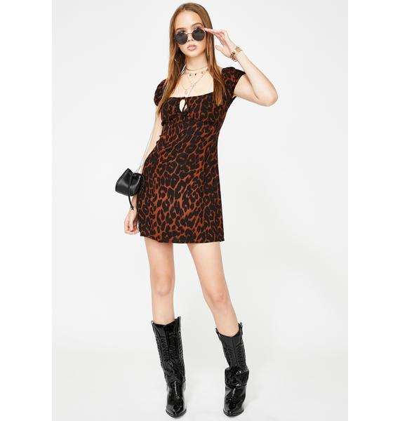 Motel Gavel Leopard Mini Dress