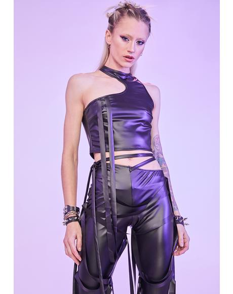 Baddest Of The Bunch Faux Leather Pants Set