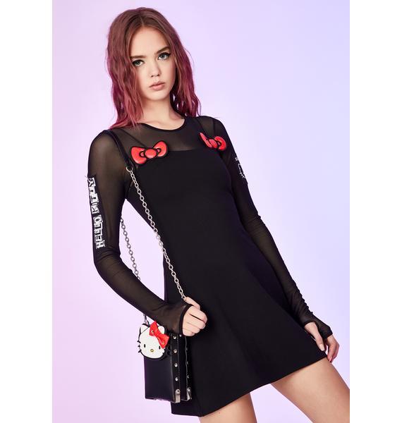 Dolls Kill x Hello Kitty Sugar Coated Threat Mini Dress