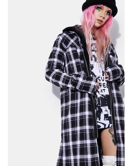 Dark Band Of Misfits Flannel Duster