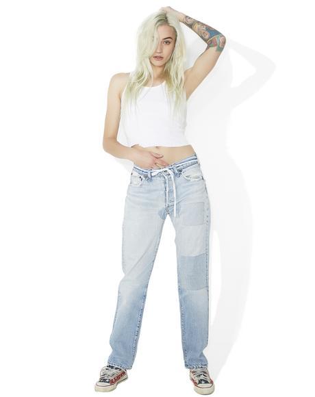 Vintage Levis Patched Denim Pants