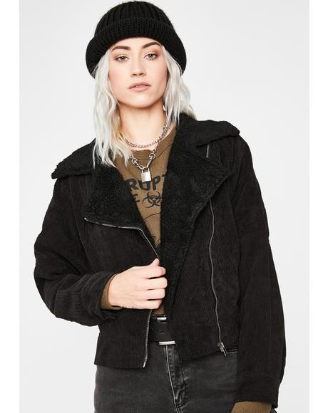 Corduroy Babe Moto Jacket