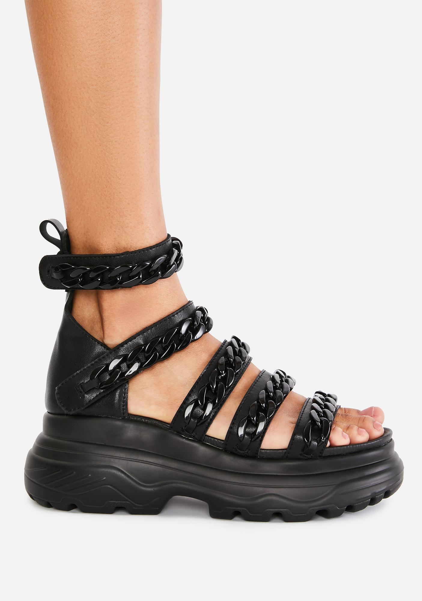 Koi Footwear Strident Chain Gladiator Sandals