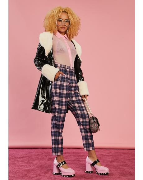 Stories In My Mind Plaid Trousers