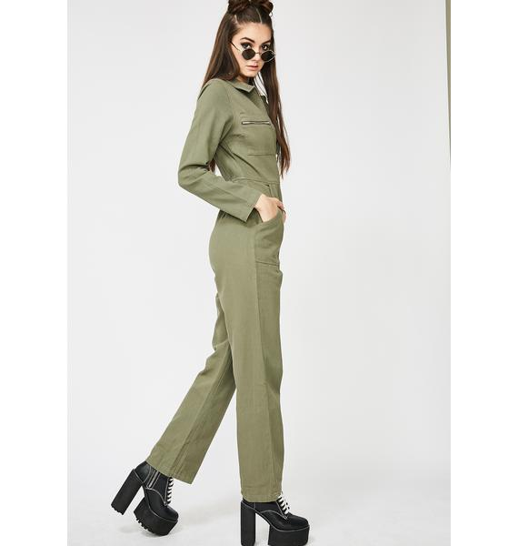 Detention Junkie Zip Up Jumpsuit