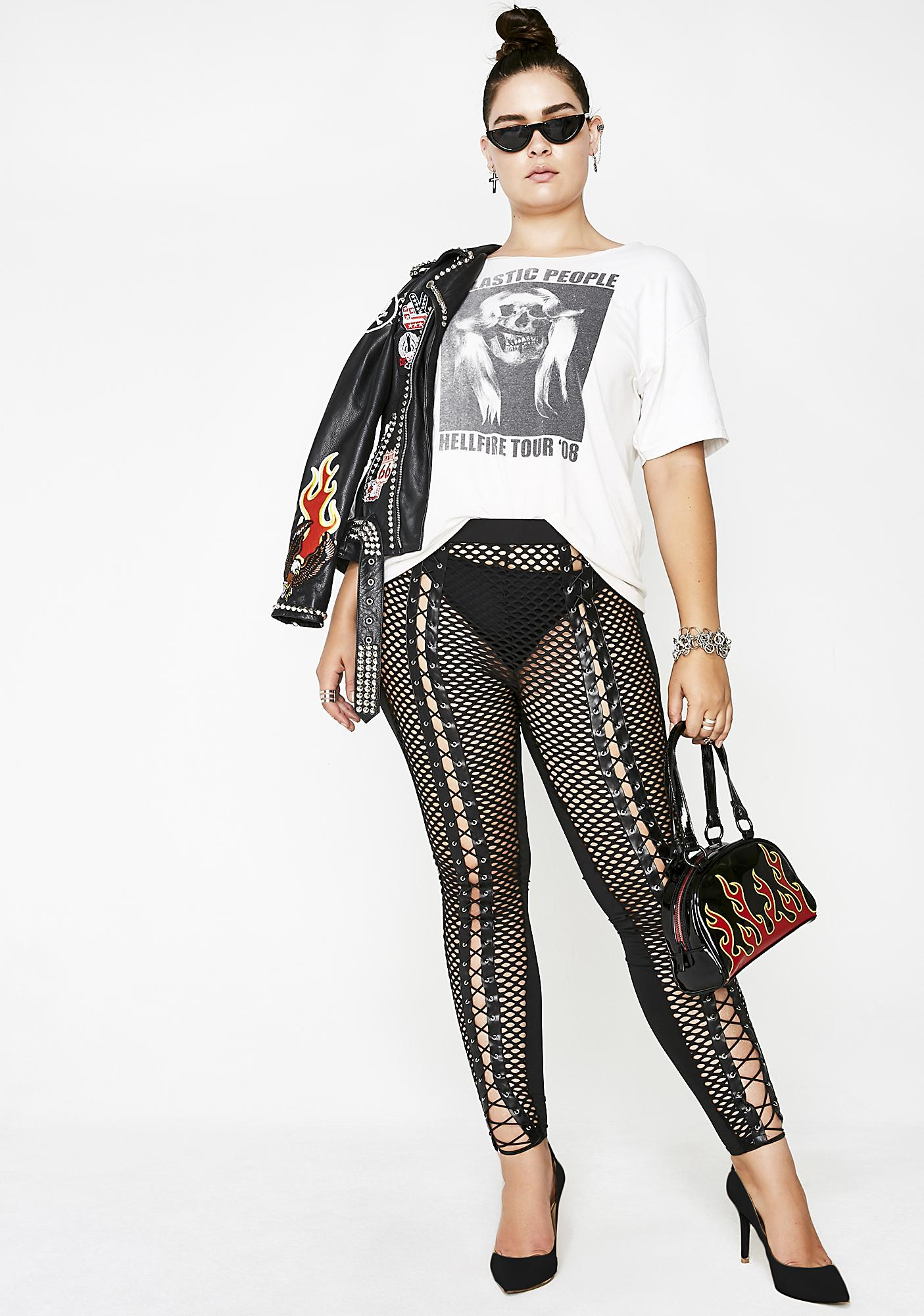 Make Ya Jaw Drop Lace-Up Leggings