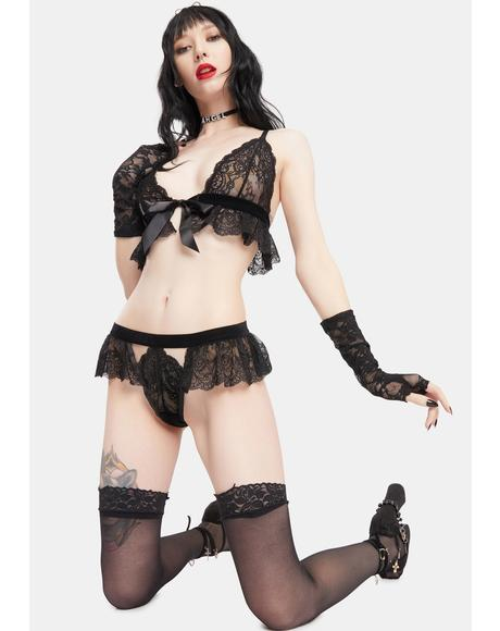 Karlie Bow And Lace Lingerie Set