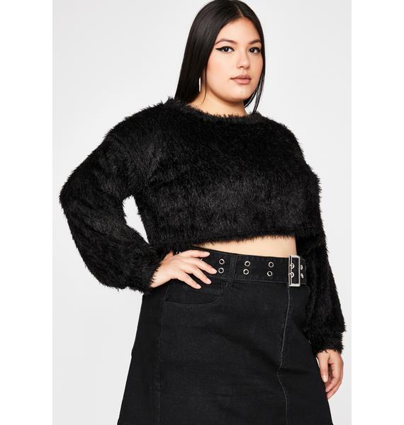 Dark Total Daring Diva Crop Sweater