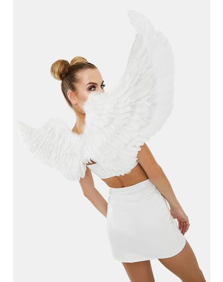 Angel Above Feather Wings