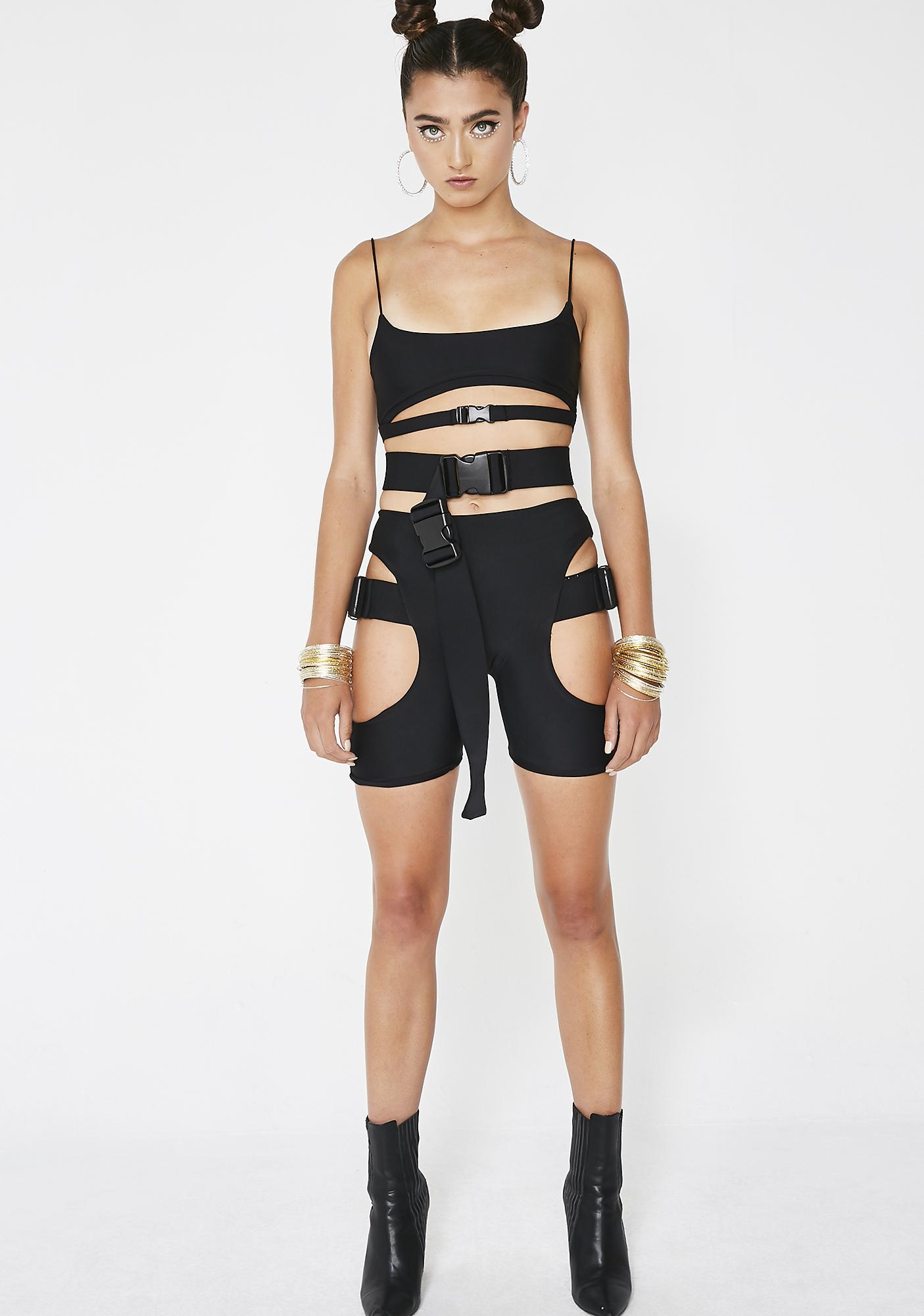 Lipt The Label Buckle Shorts