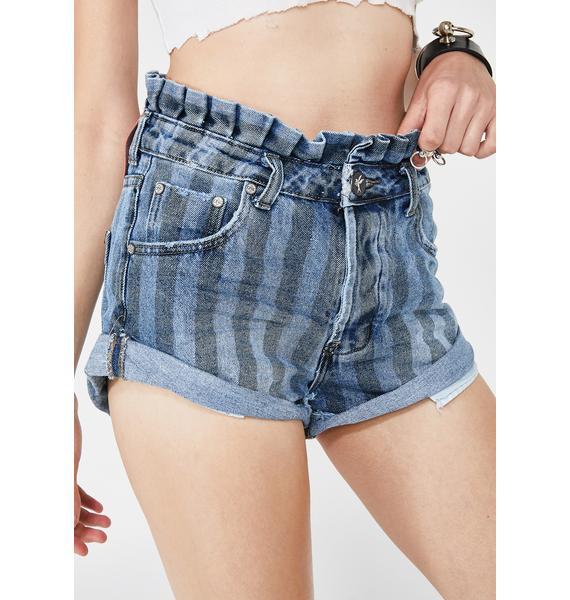 One Teaspoon Zephyr Bandits Denim Shorts