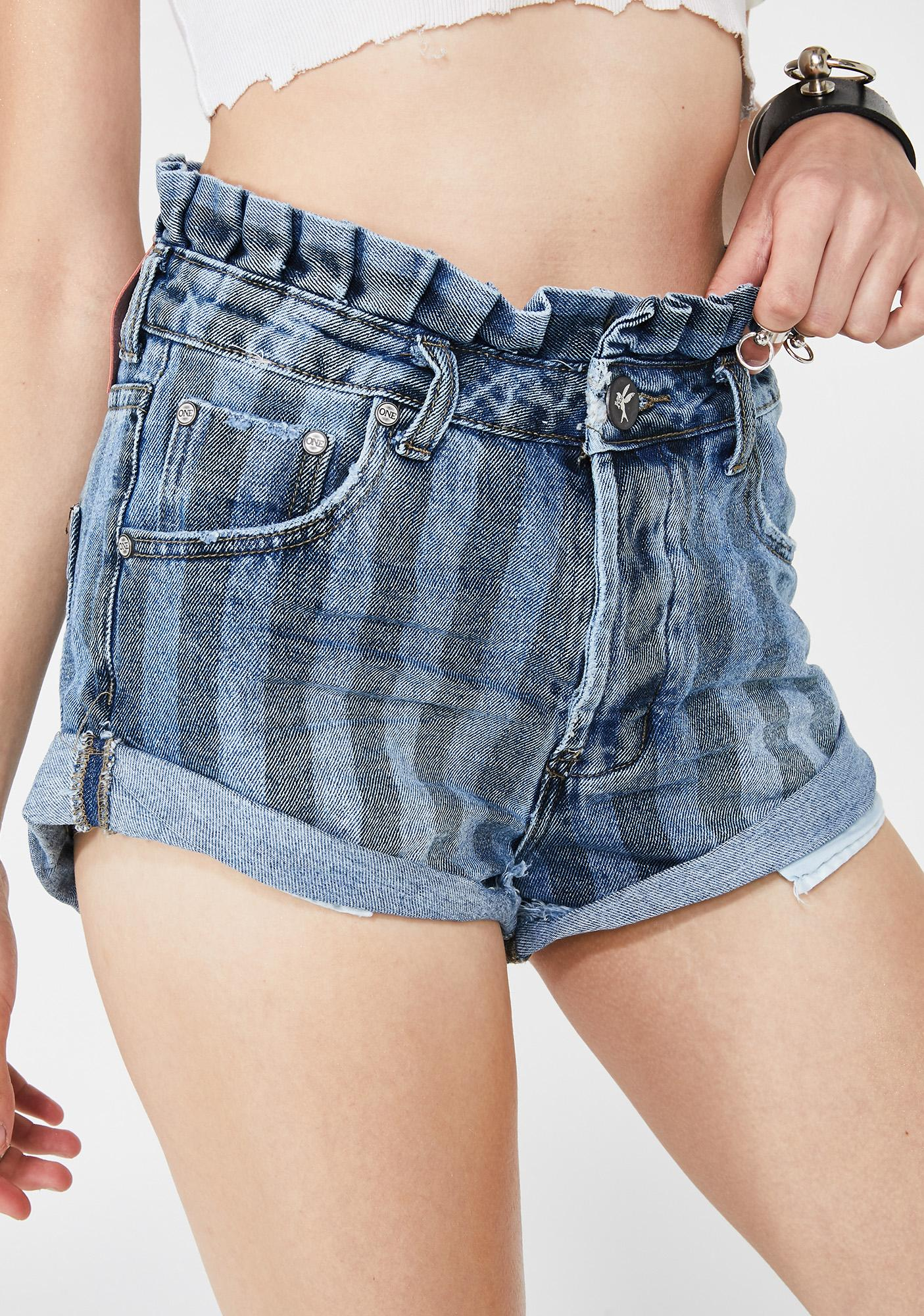 9a955a58d One Teaspoon Zephyr Bandits Denim Shorts | Dolls Kill