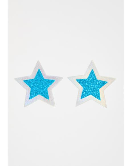 Glitter Star Holographic Pasties