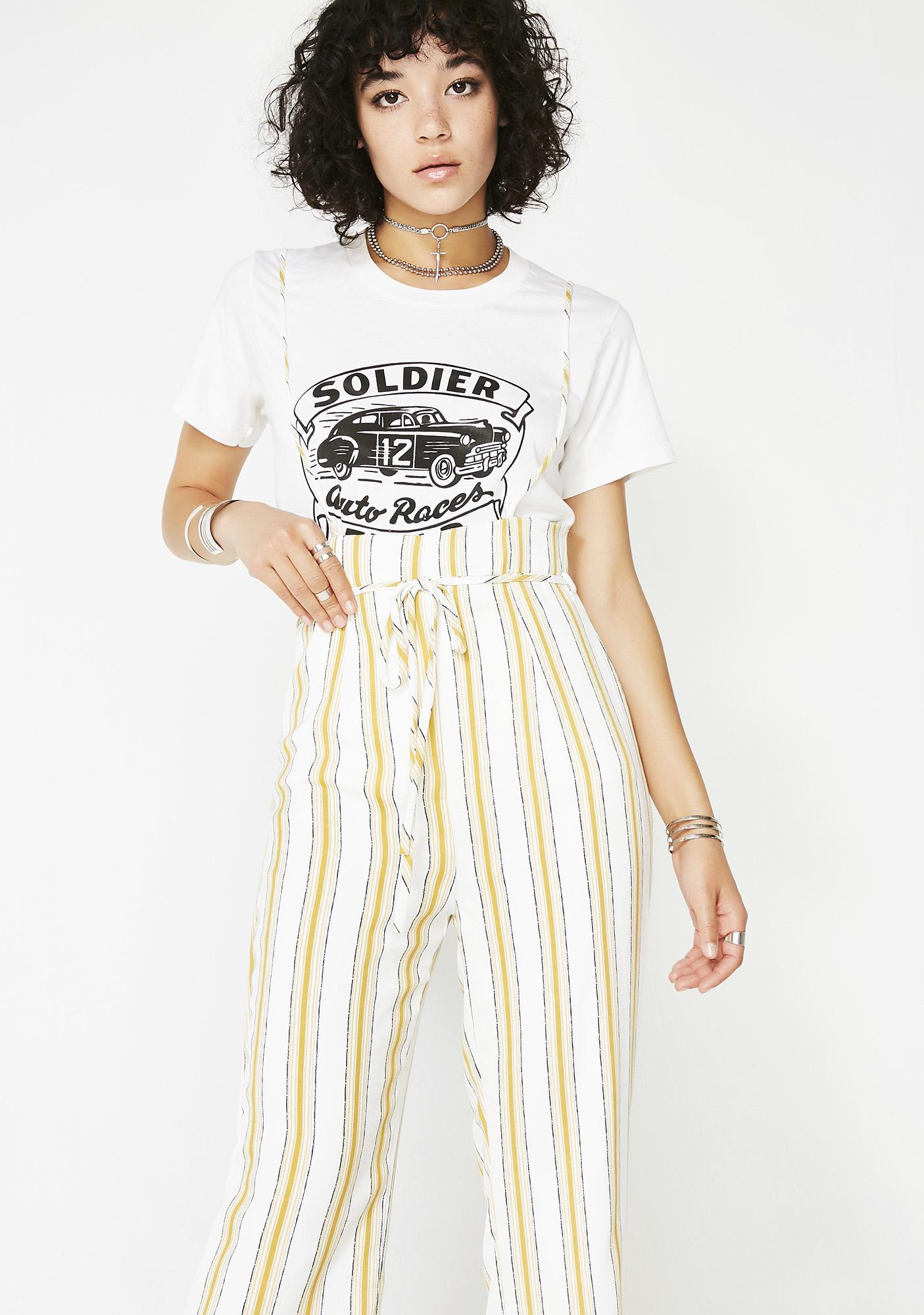 Down For You Suspender Jumpsuit