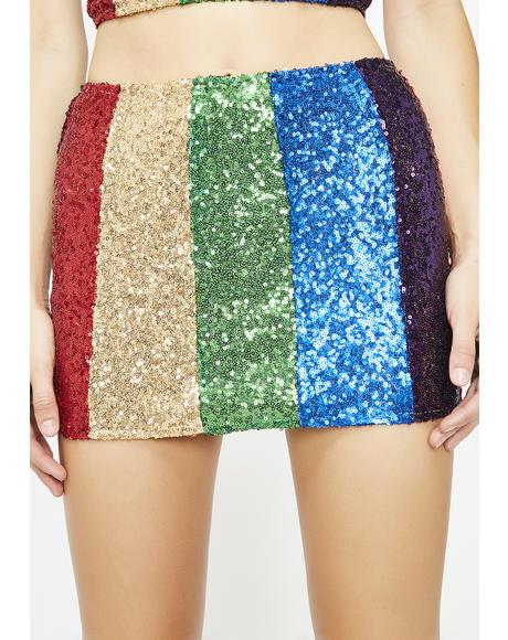 Retro Brilliance Sequin Skirt