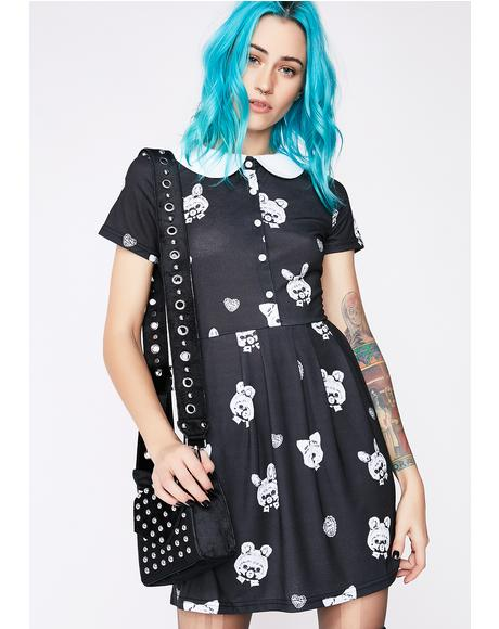 Nocturnal Playtime Peter Pan Dress
