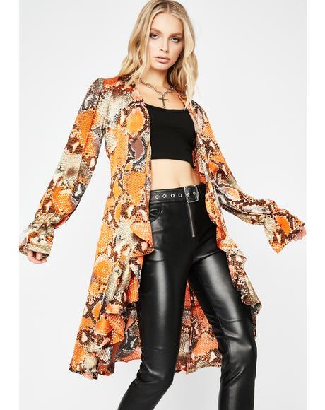 Amber Viper Gang Snakeskin Jacket