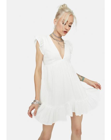 Bliss Just For Kicks Ruffle Babydoll Dress