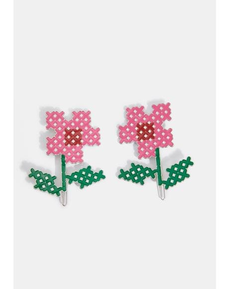 What In Carnation Hair Pin Set
