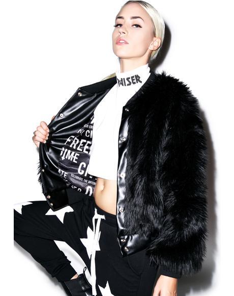 Sharon Faux Fur Bomber Jacket