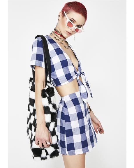 Gingham Baby Top