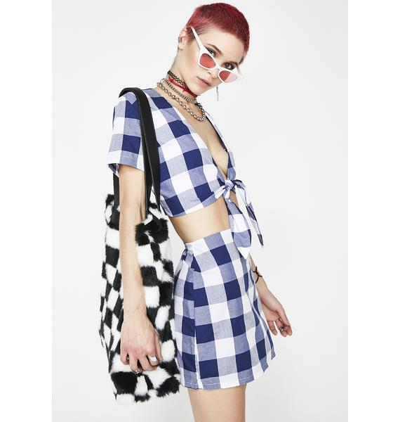 O Mighty Gingham Baby Top