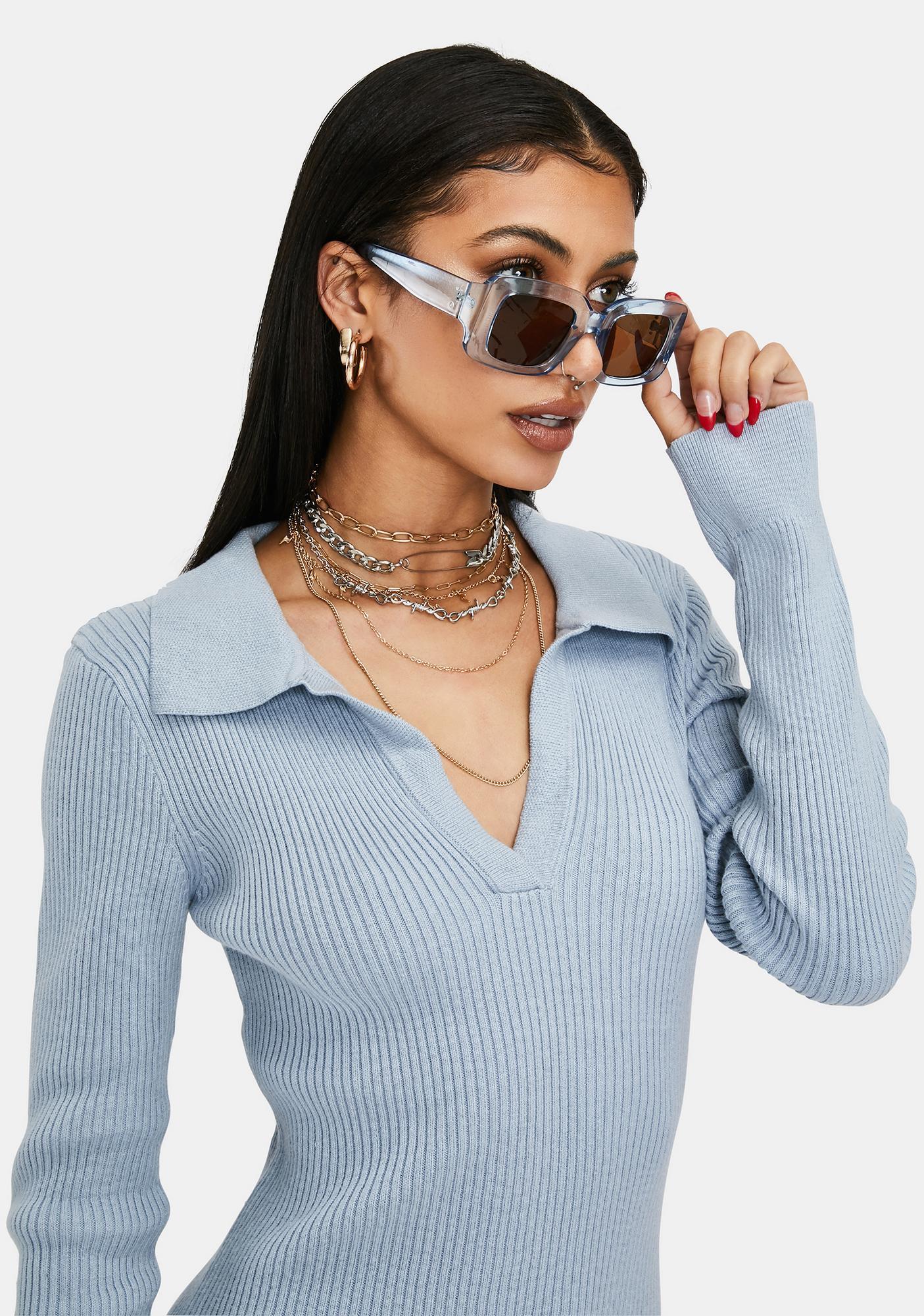 Polar Hot Goss Oversized Rectangle Sunglasses