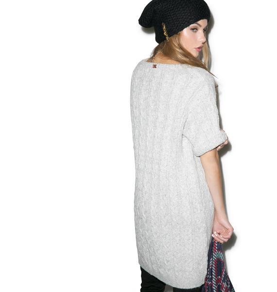 For Love & Lemons Snow Day Oversized Sweater