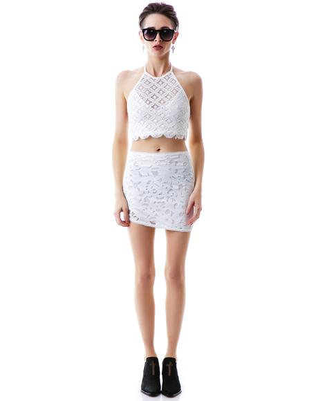 Some Like It Hot Lace Crop Top