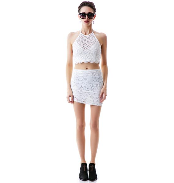 Somedays Lovin Some Like It Hot Lace Crop Top