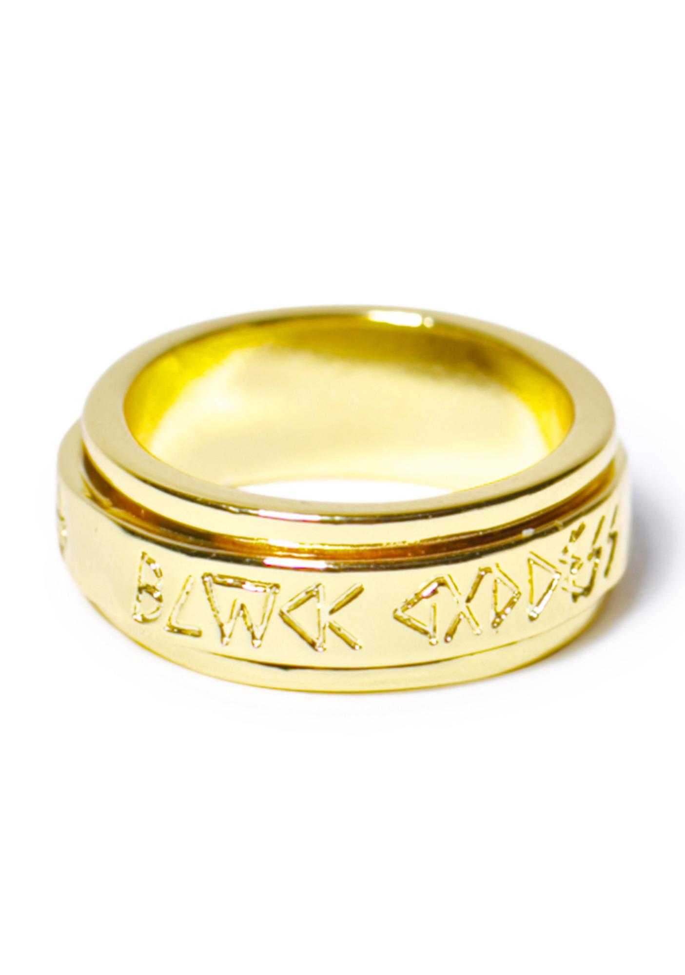 Black Scale Blvck Goddess Spin Ring