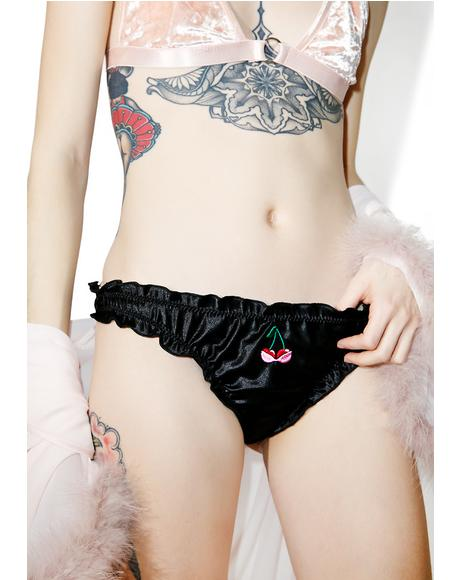 Midnight Satin Panties