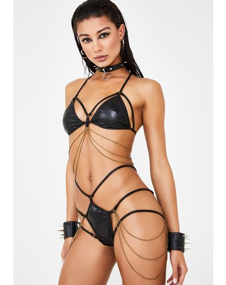 Digital Ecstasy Harness Panties