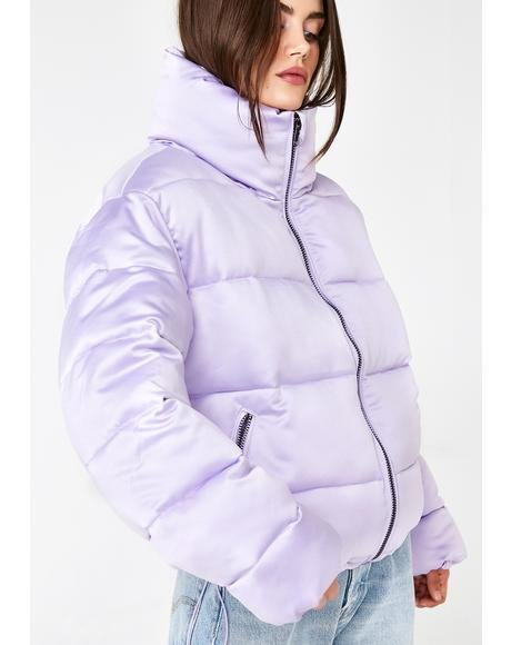 Lilac Hood Dreams Puff Jacket