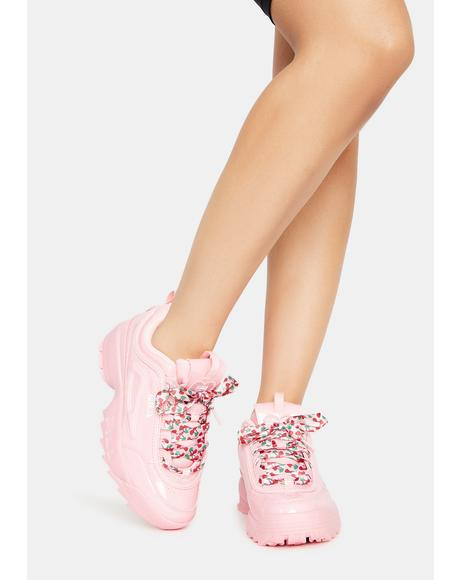 Blush Disruptor 2 Heart Sneakers